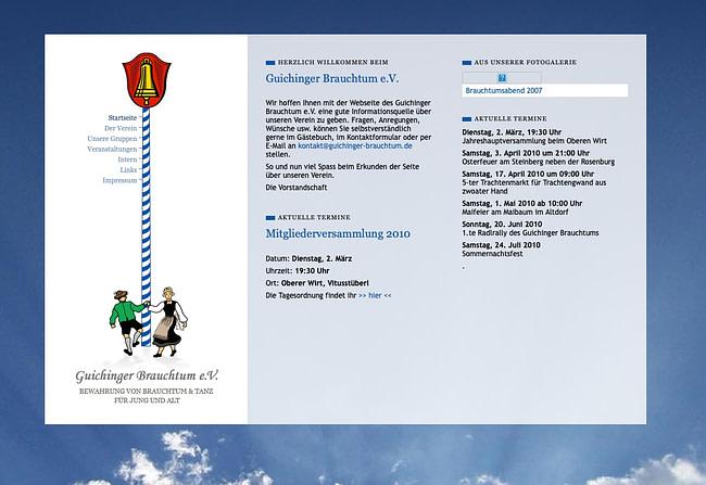 Neue Vereinswebsite