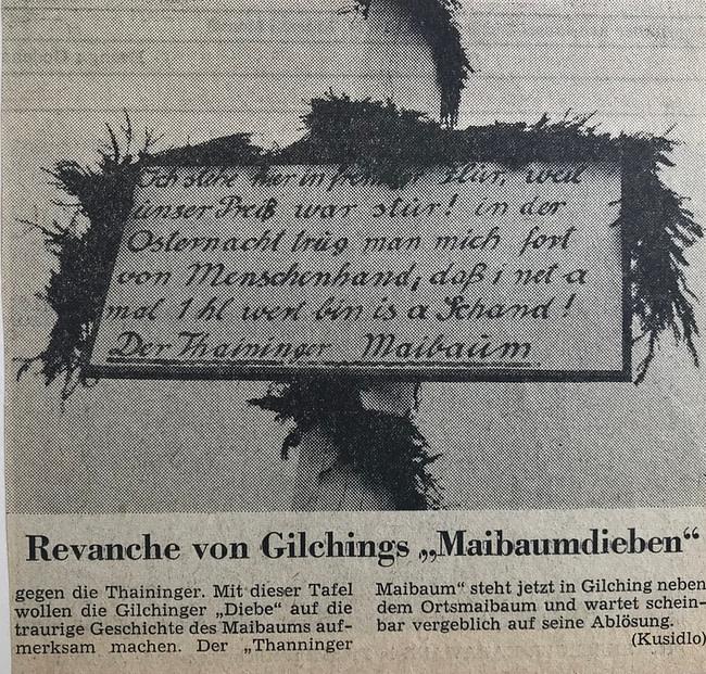 Thanninger Maibaum ohne Auslöse